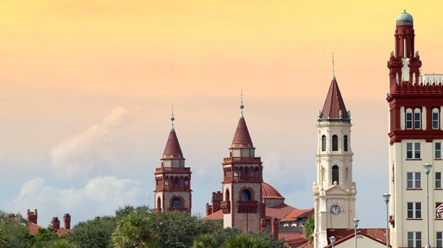 "St. Augustine Skyline, including Flagler College, part of the ""real"" world"