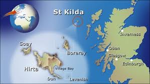 St. Kilda, far north of the British Isles