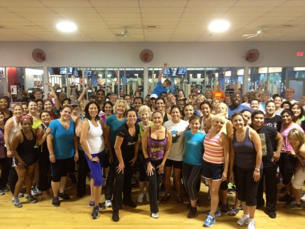 A Crowd of Gainesville Health and Fitness Members